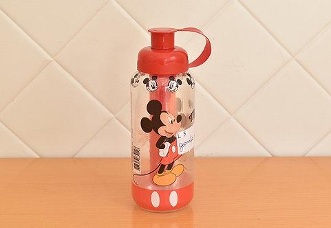 Garrafa Squeeze  com Porta Geo Mickey Mouse Tampa Vermelha