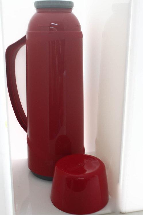 Garrafa Térmica de Mesa Vermelha - 1 litro
