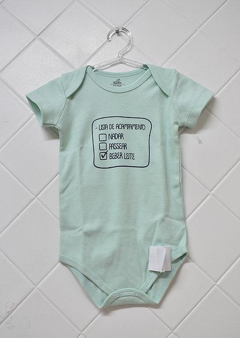 Body Bebê Verde Claro - Lista de Acampamento