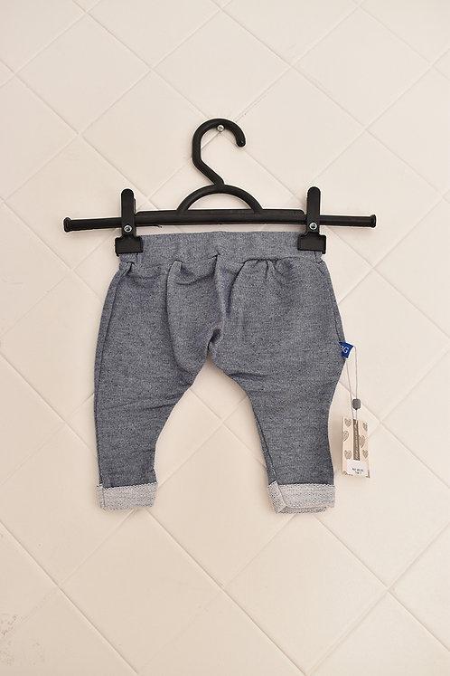 Calça Infantil de Moletom Cinza - Tam P (3 meses)