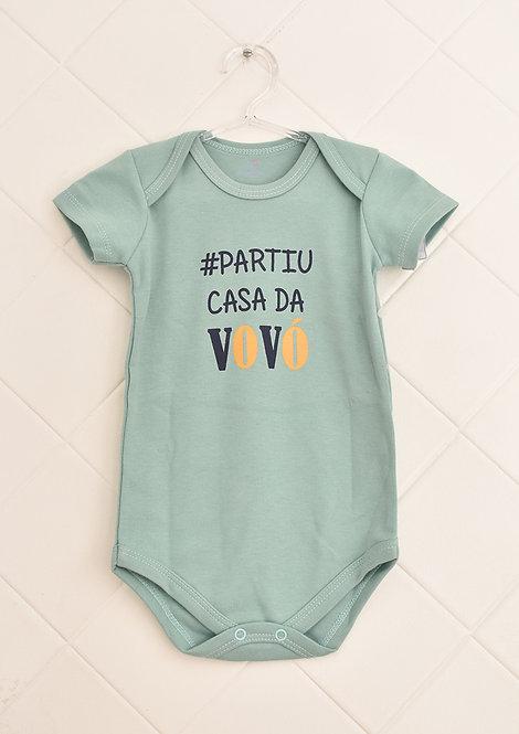 Body Bebê Verde Claro - #Partiu Casa da Vovó