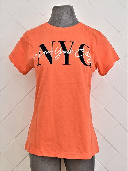 Camiseta Feminina NYC Laranja