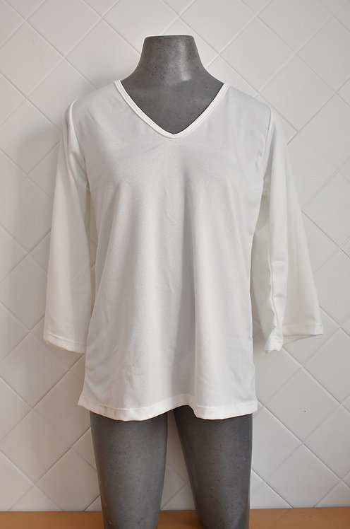 Camisa Feminina de Manga Longa 3/4 - Branco