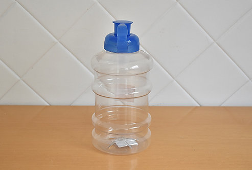 Garrafa Squeeze Plástico Tampa Azul