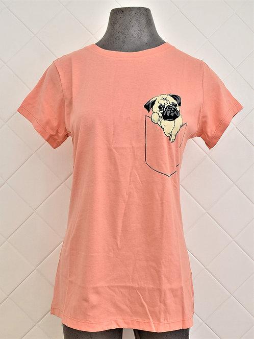 Camiseta Feminina Salmão