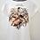 Thumbnail: Camiseta Feminina Creme com Estampa de Folhas