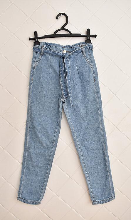 Calça Infantil Jeans Clara com Cordão - Tam 10 Anos