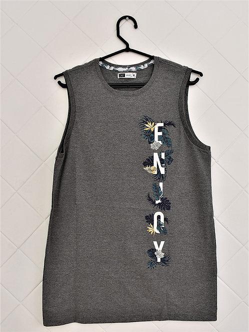 Camiseta Regata Masculina Cinza Enjoy