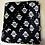 Thumbnail: Manta Microfibra Casal Preta com detalhes Branco