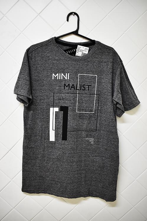 Camiseta Masculina Cinza Minimalist
