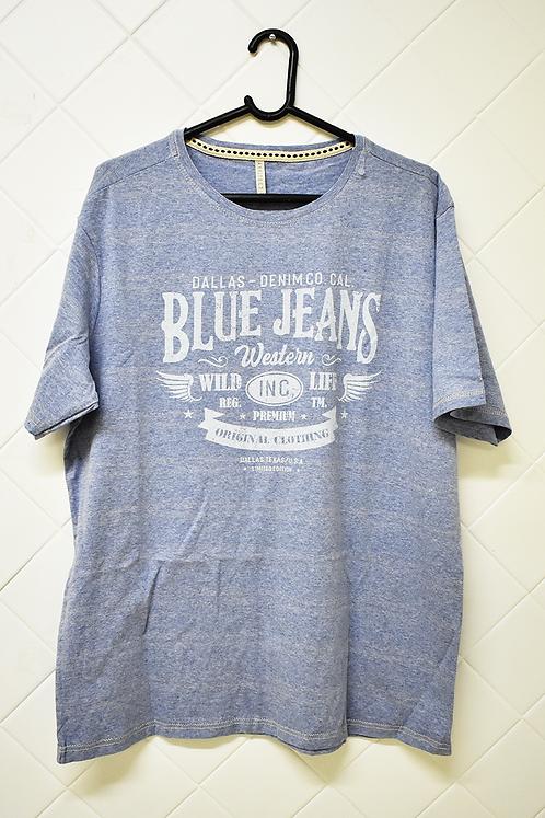 Camiseta Masculina Azul Clara - Blue Jeans
