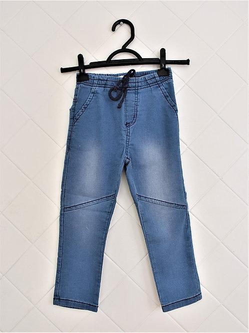 Calça Infantil Jeans com Cordão - Tam 4 Anos
