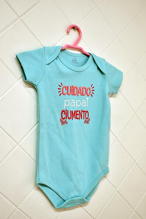 Body Bebê Verde - Cuidado Papai Ciumento