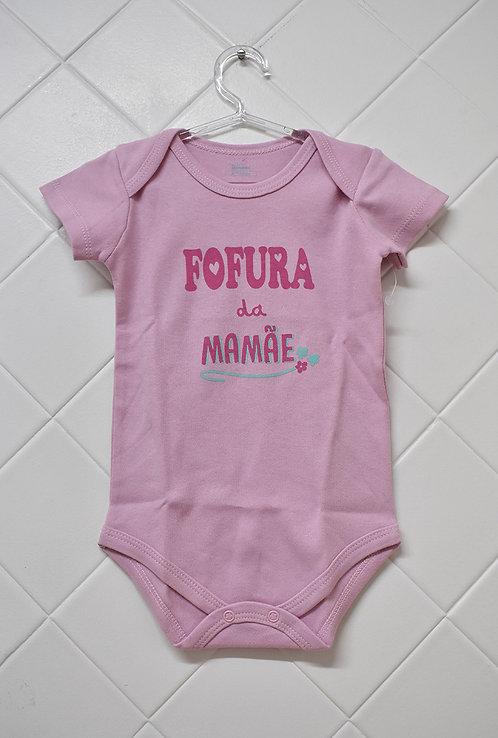 Body Bebê Rosa - Fofura da Mamãe