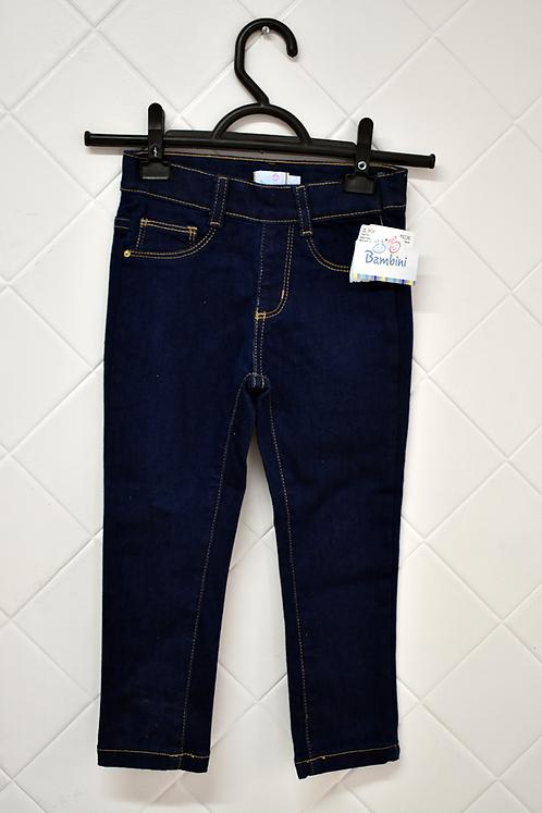 Calça Infantil Jeans Escuro com Bolso - 4 Anos