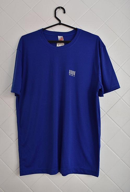 Camiseta Masculina Azul com Detalhe em Cinza