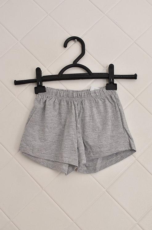 Shorts Infantil Cinza - Tam 2 Anos