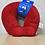 Thumbnail: Encosto para Cabeça Com Máscara para Olhos Vermelho