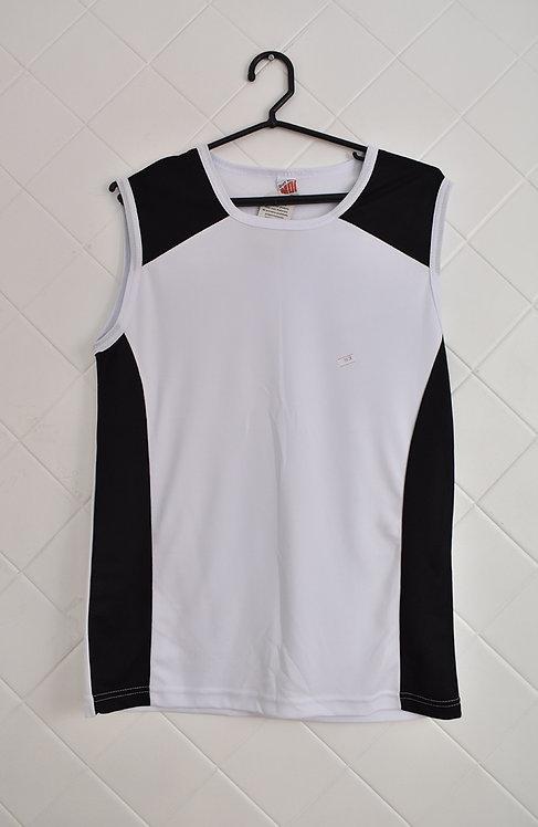 Camiseta Regata Masculina Branca e Preta