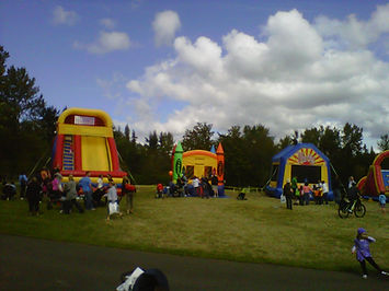 Bouncy house festival with a giant inflatable slide from Better Bouncers in Bellevue WA