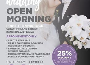 Print It Banbridge Wedding Open Morning!!!!