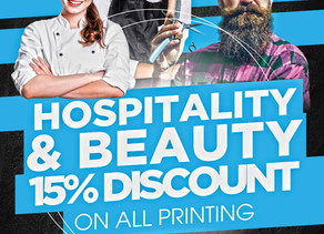 Hospitality and Beauty Discount offer!!!
