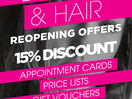 Hair and Beauty Reopening offer!
