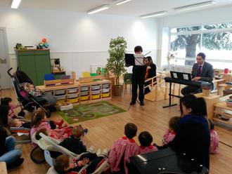 Concierto de violín en Montessori Garden.