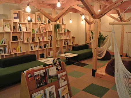 個性的なブックコーナー「さぎの森文庫」
