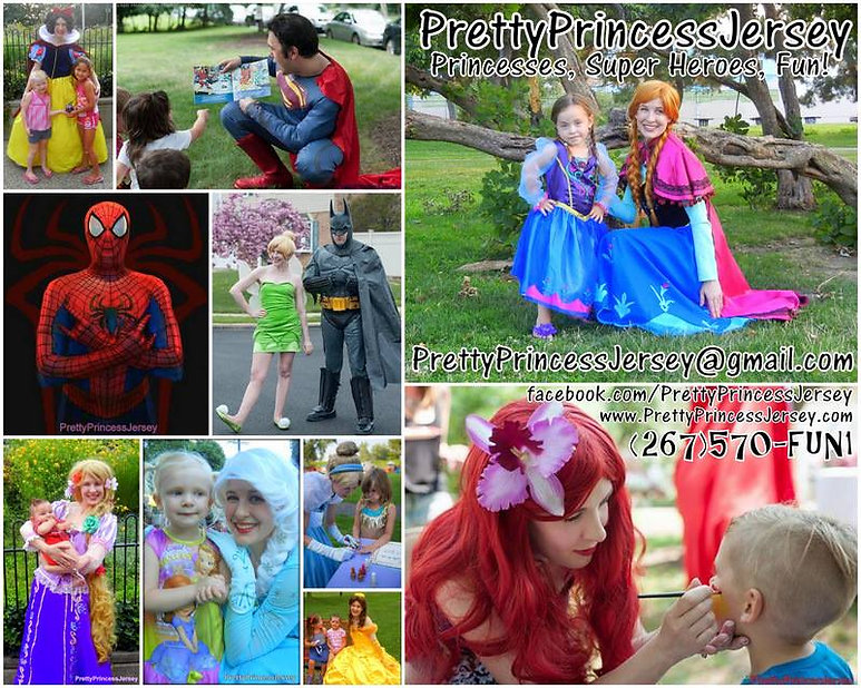 Princesses, Super Heroes, Characters, Birthday Parties, Philadelphia, New Jersey, Delaware