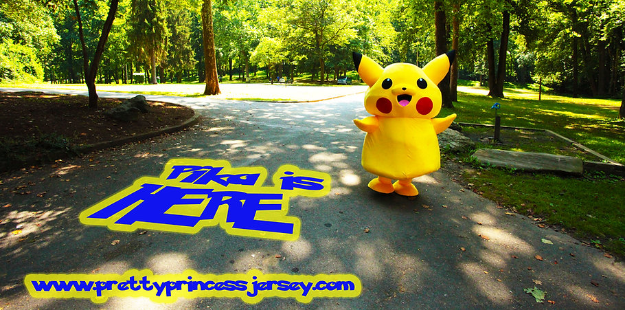 Pikachu, Pokemon, Character for Hire, Mascot for Rent, Party Entertainment
