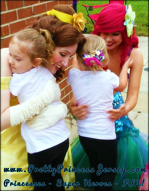 Ariel, Belle, Princess Party Bucks County, Princess for hire Philadelphia, South Jersey Princess Party, Characters for Parties