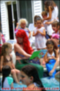 Pool Party with a mermaid, swimming mermaid character, singing princess party, hire a mermaid in Pennsylvania, travelling mermaid for hire
