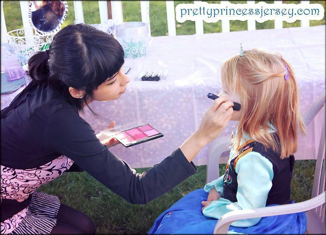 Make-up application, glam party, make-over party, birthday party entertainment