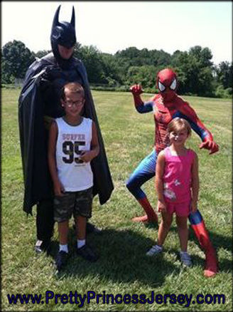 PrettyPrincessJersey's Bat Hero and Spider Hero are awesome additions to super hero themed events. Fans of Batman and Spiderman love our characters!