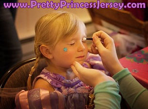 Make-overs, princess party, character appearance, glam party, make-up, PrettyPrincessJersey