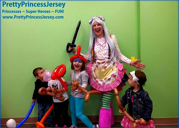 PrettyPrincessJersey has friendly clowns available. We offer face painting and balloon twisiting. We serve the Greater-Philadelphia area.