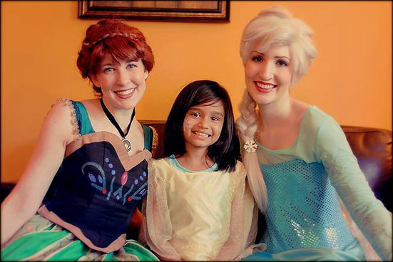 PrettyPrincessJersey's Snow Queen and Winter Sister would love to attend your next event. Invite more than one character for double the fun!