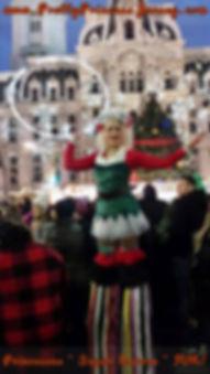 Holiday-themed entertainment, corporate functions entertainment, circus performer, philadelphia entertainer, stilt walker entertainment