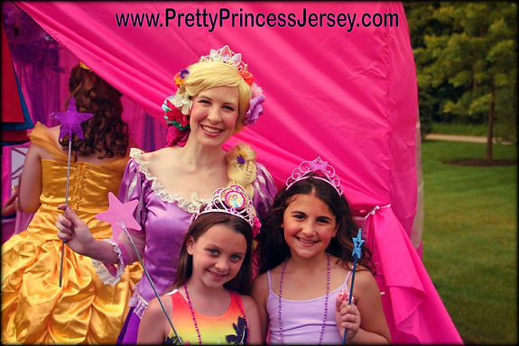 """Tangled"" fans love PrettyPrincessJersey's Long Hair Princess. Invite our entertainers to be a part of your next Rapunzel-themed event!"