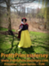 PrettyPrincessJersey's Apple Princess is the perfect compliment to any Snow White themed event. Invite her to your next birthday party or other celebration!