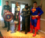 super heroes, characters for hire, captain america, thor, batman, super man, Philadelphia super hero, Bucks County super hero, South Jersey super hero