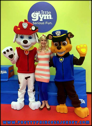 Paw Patrol inspired mascots, party entertainment, Philadelphia, Bucks County, South Jersey, Birthday Party Characters, Kids Party, Characters for Hire, PrettyPrincessJersey