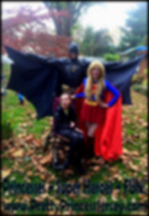 Batman and Super Girl fans love PrettyPrincessJersey's super hero-themed characters