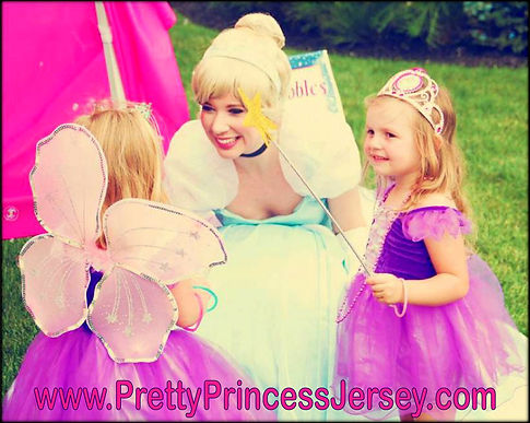 Fans of Cinderella love PrettyPrincessJersey's Glass Slipper Princess. Invite a character to your party!