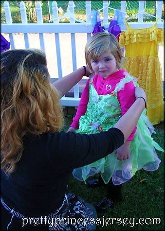 Dress-up clothing provided by PrettyPrincessJersey. Glam parties are a great idea for any little princess and their friends!