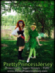 PrettyPrincessJersey's Tinker Fairy and Pirate Fairy would love to join your next event!