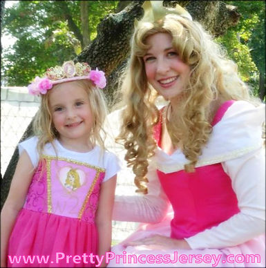 Those who like Sleeping Beauty, Aurora, Briar Rose, love PrettyPrincessJersey's Sleeping Princess character. Invite an entertainer from PrettyPrincessJersey to your next event!