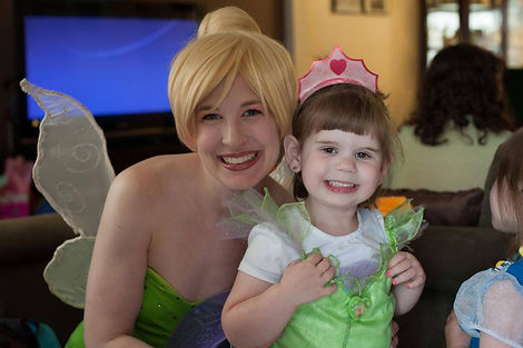 PrettyPrincessJersey offers many different fairy characters. Tink and her friends would love to join you and your friends!