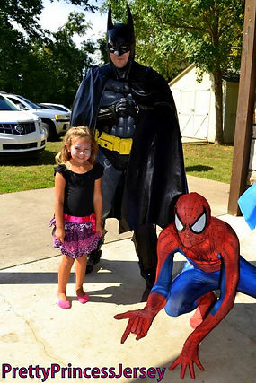 PrettyPrincessJersey offers Super Hero impersonators!